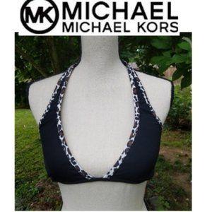 Michael Kors Black Animal Print Bikini Top 8